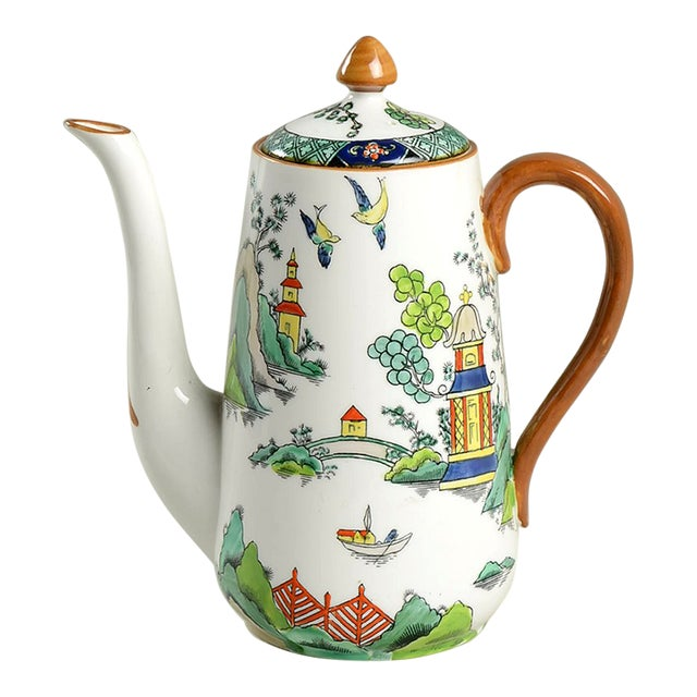 Crown Staffordshire Ye Olde Willow Coffee Pot & Lid