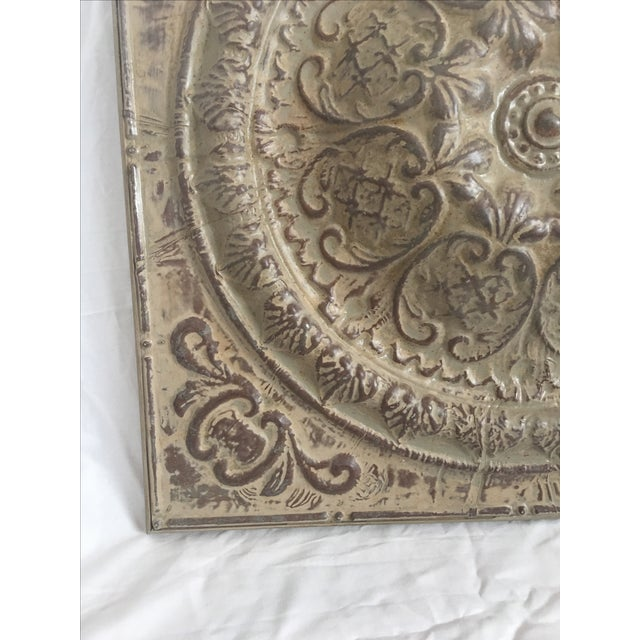 Traditional Style Embossed Metal Decorative Object - Image 4 of 7