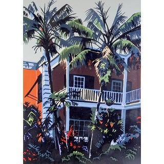 'Coco Palms' Serigraph by Jon Carsman For Sale