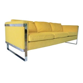 1970s Vintage Milo Baughman Style Sofa For Sale
