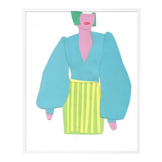 Paper Doll by Virginia Chamlee in White Framed Paper, Small Art Print For Sale