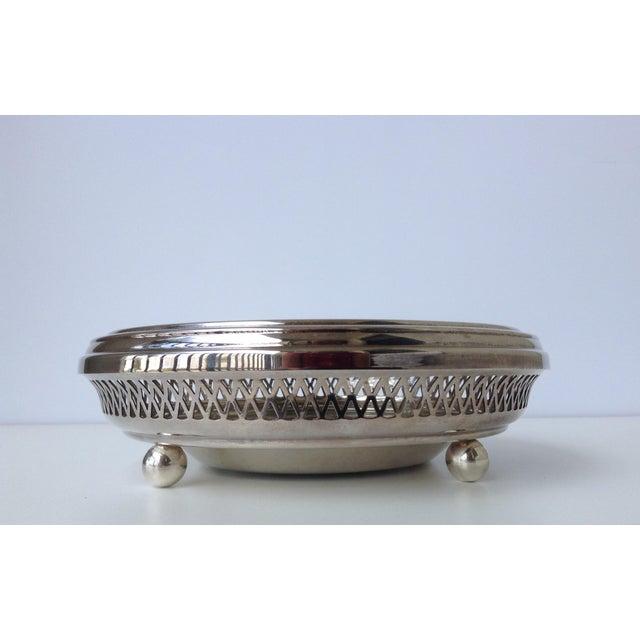 Metal Silver Plate Celtic Platform Server Hot Plate Holder For Sale - Image 7 of 8