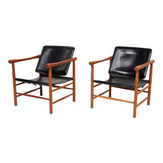 1950s Vintage Soborg Mobler Sling Chairs - a Pair