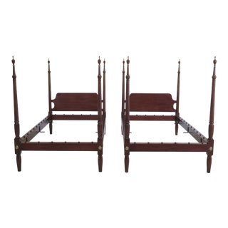 Pair Kittinger Colonial Williamsburg Twin Beds For Sale