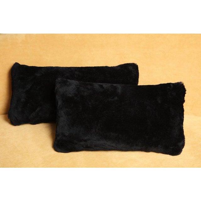 Black shearling pillows Price per pillow not a pair.