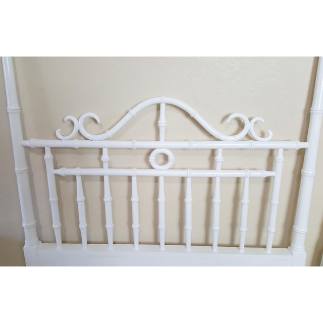 1960s Vintage Kensington by Drexel Twin Faux Bamboo Headboards - a Pair For Sale - Image 5 of 8