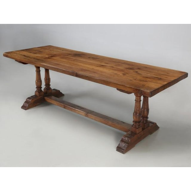Antique French White Oak Trestle Table C. 1880 For Sale - Image 13 of 13