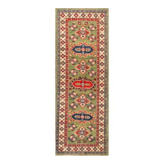 "Apadana - Orange and Red Indian Tabriz-Style Runner, 2' X 6'1"""