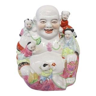 Chinese Porcelain Happy Buddha Statue