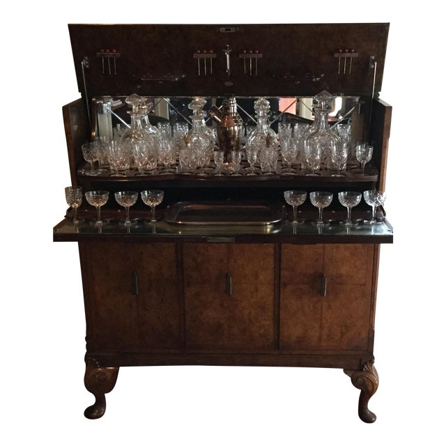 Lift Top Bar Cabinet & Crystal Collection - Set of 69 - Image 1 of 5