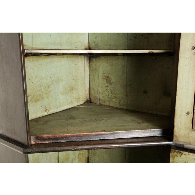 19th Century English Corner Cupboard with Faux Front Panel Door For Sale - Image 10 of 13