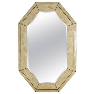 Maitland Smith Tesselated Marble Mirror For Sale