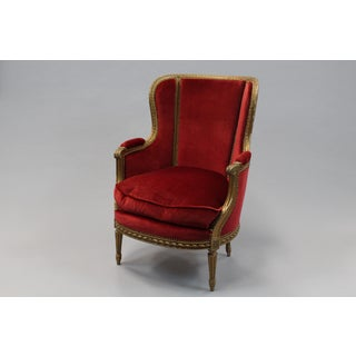 French Bergere Chair With Gilt Finish Preview