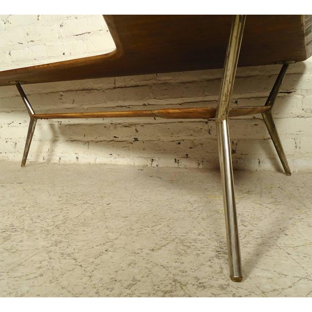 Rare Designer Table in Kidney Shape For Sale - Image 4 of 6