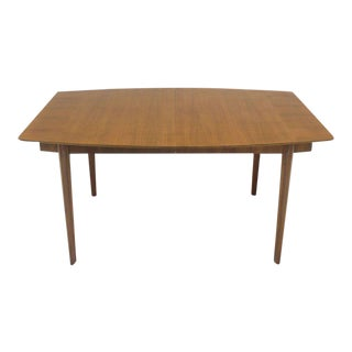Widdicomb Walnut Dining Table w/ Two Extension Boards Leaves For Sale