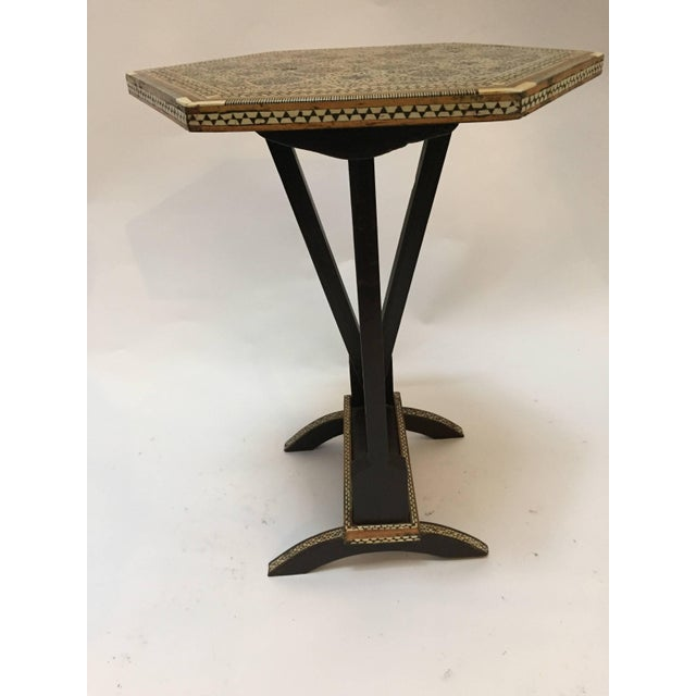 Egyptian Octagonal Side Table For Sale - Image 4 of 9