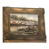 Image of 1980s Landscape Oil on Canvas Painting For Sale