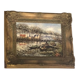 1980s Landscape Oil on Canvas Painting For Sale