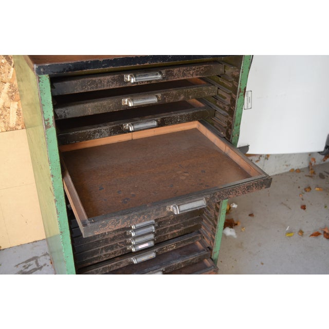 Antique Thompson Letterpress Printing Cabinet - Image 4 of 8