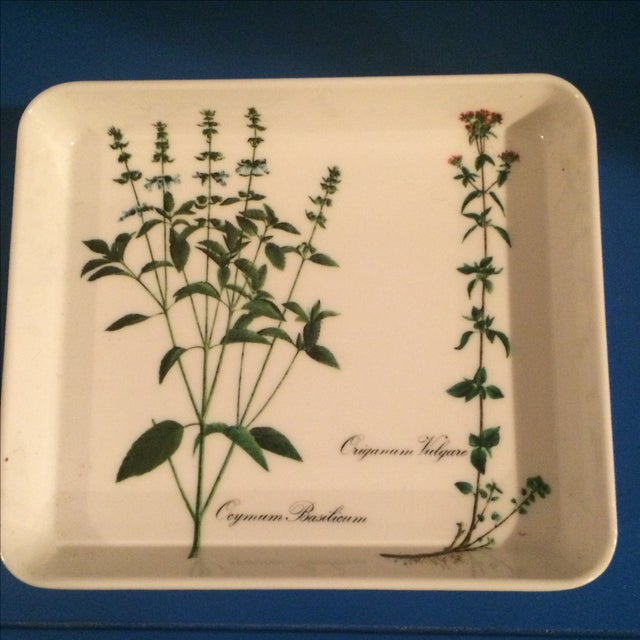Mid Century Preppy Melamine Tray and Dish Set For Sale - Image 7 of 8