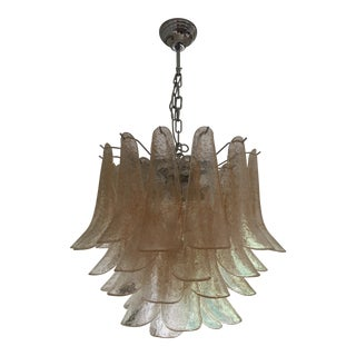 "Mazzega Style Chandelier Murano Glass ""Selle"" Sputnik Chandelier For Sale"