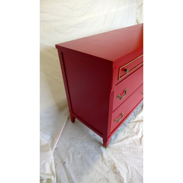 Mid-Century Cherry Red Sideboard - Image 6 of 10