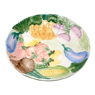 "Fitz & Floyd Vegetable Garden 14"" Salad Serving Bowl For Sale"