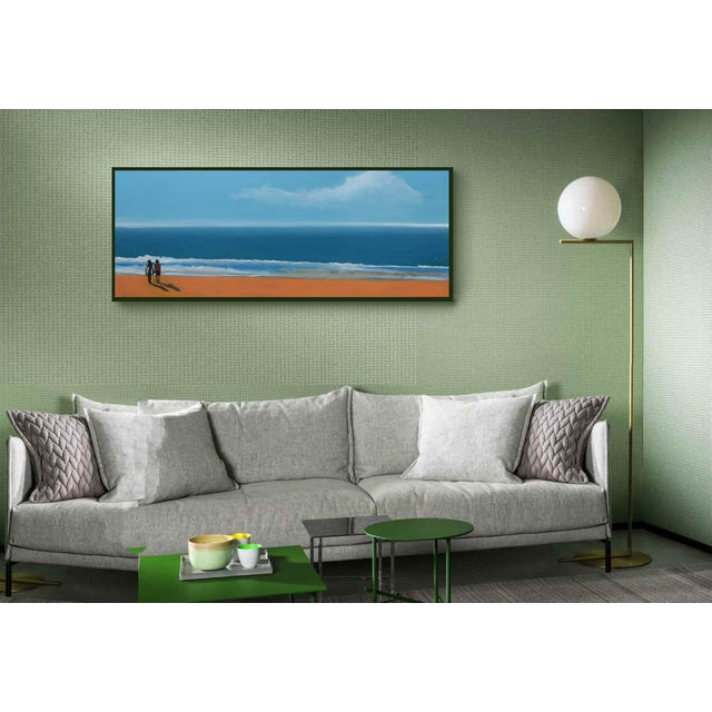 """Impressionism """"By the Sea"""" Geoff Greene Oil Painting For Sale - Image 3 of 10"""