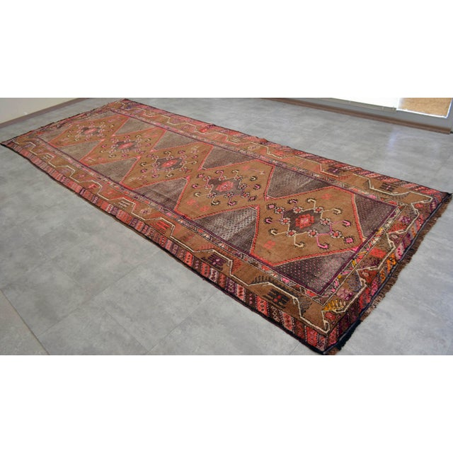 Hand Knotted Natural Colors Tribal Rug - 5′3 ″ x 13′1″ - Image 5 of 10