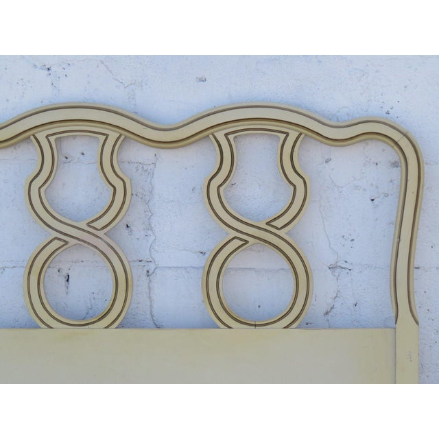 French King Size Painted Headboard For Sale - Image 9 of 11