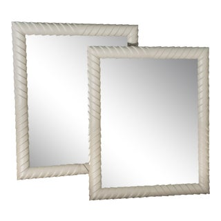 1960s Mid Century Italian Rectangular Mirrors - a Pair For Sale