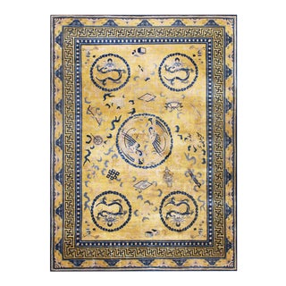 """Antique Chinese Rug 10'10"""" X 14'10"""" For Sale"""