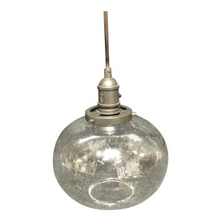 Kichler Bronze Pendant Light With Seedy Glass For Sale