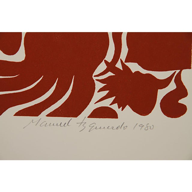 Artist: Manuel Izquierdo Title: Marine Garden, Red Year:1980 Medium: Woodcut Edition: 100 Size: 30 x 22 inches [76.2 x...