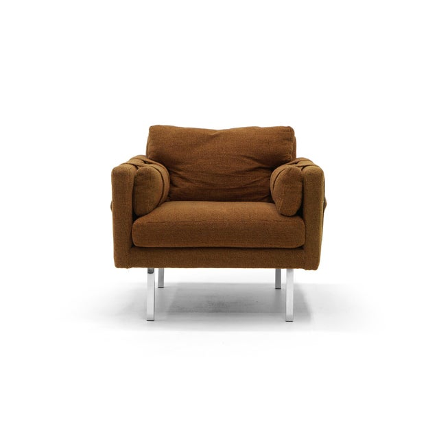 Original Complimenting Pair of Milo Baughman Lounge Chairs - Image 3 of 10