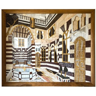 """Damascus House"" Marble Mosaic Inlay Wall Art For Sale"