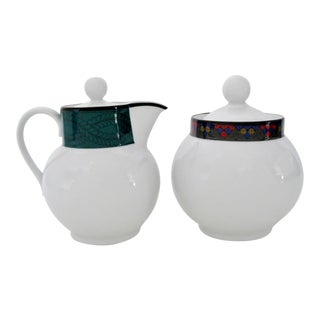 Dansk Creamer & Sugar Bowl, Set of 2 For Sale