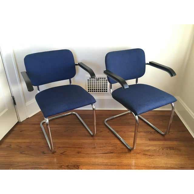 Marcel Breuer for Thonet Cesca Chairs - A Pair For Sale In Cincinnati - Image 6 of 9