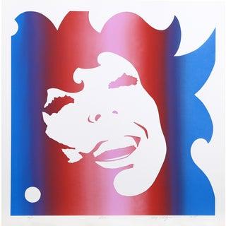 Roy Ahlgren, Eve, Abstract Serigraph Portrait For Sale