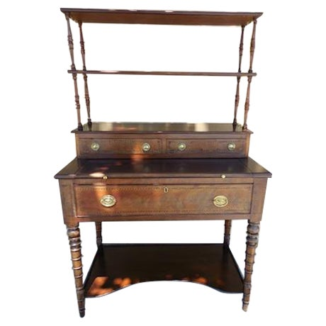 Antique English Mahogany Desk - Image 1 of 7