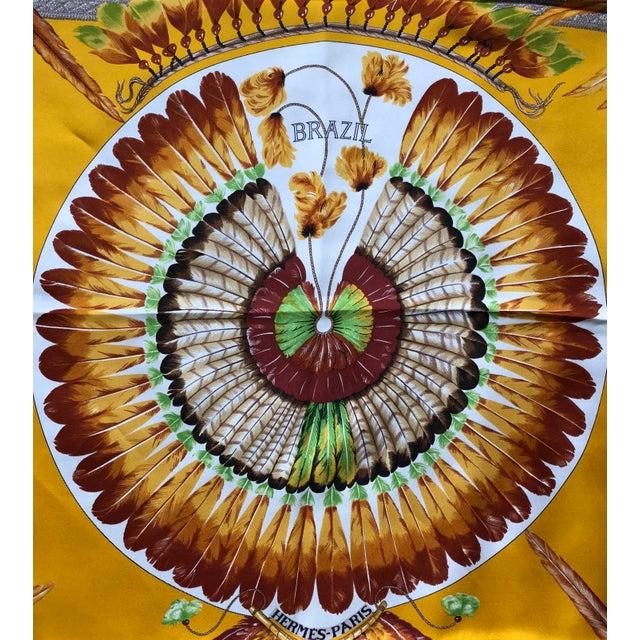 Silk Vintage Hermes Brazil Scarf For Sale - Image 7 of 10