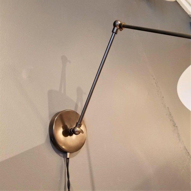 Not Yet Made - Made To Order Large Scale 'Monarch' Articulated Wall Mount Lamp in Bronze, Blueprint Lighting For Sale - Image 5 of 6