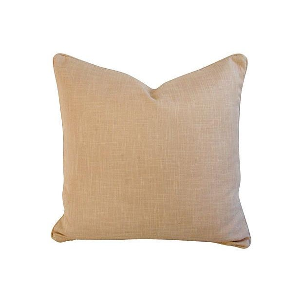 Large Custom French Embroidered Jacquard Pillow - Image 3 of 4