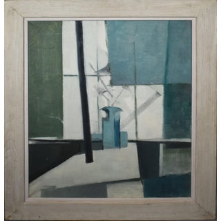 Antique American Abstract Expressionist Industrial Landscape For Sale