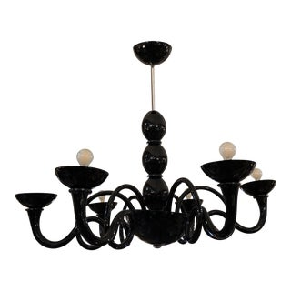 Artemide Örni Halloween Pantalica Black Six Arm Suspension Chandelier For Sale