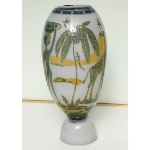 1940s Swedish Studio Glass Vase by Wilke Adolfsson For Sale - Image 5 of 9