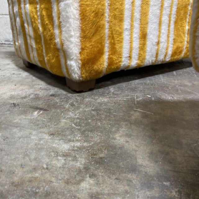 Groovy 70s Carpeted Tables Bench Set - a Set of 3 For Sale - Image 11 of 12