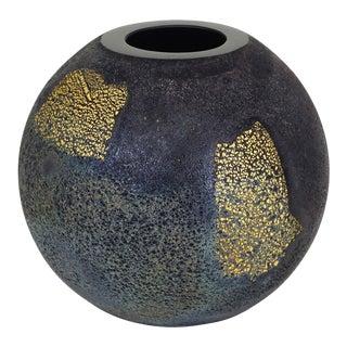 Antonio Da Ros for Gino Cenedese Black 'Scavo Oriente' Glass Vase For Sale