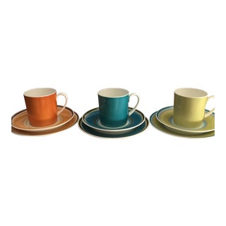 Susie Cooper for Wedgwood Coffee Can Trios For Sale