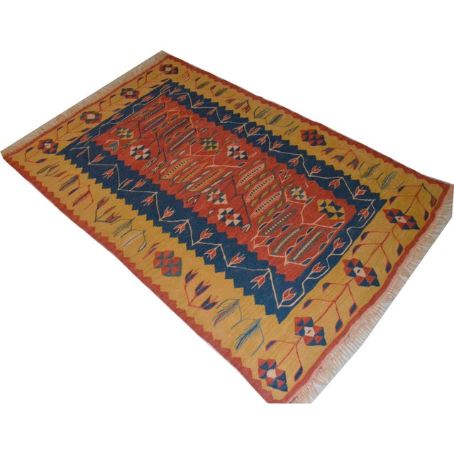 Anatolian Hand Woven Turkish Rug - 3′7″ × 5′3″ - Image 1 of 9